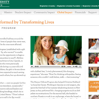 Binghamton University website redesign