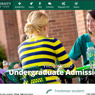 Binghamton University Undergraduate Admissions website redesign