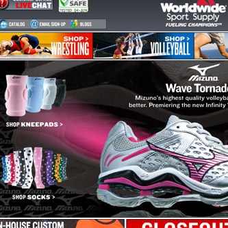 Worldwide Sport Supply website